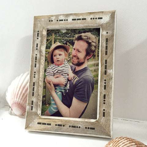 Personalised Morse Code Photo Frame