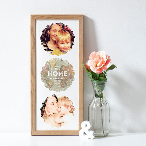 'Home is Wherever You Are' Personalised Photo Print