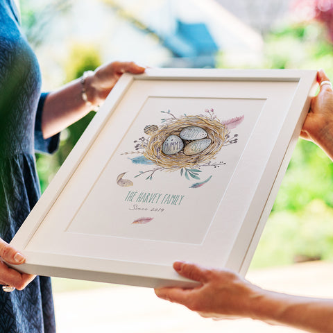 Personalised Family Nest Print