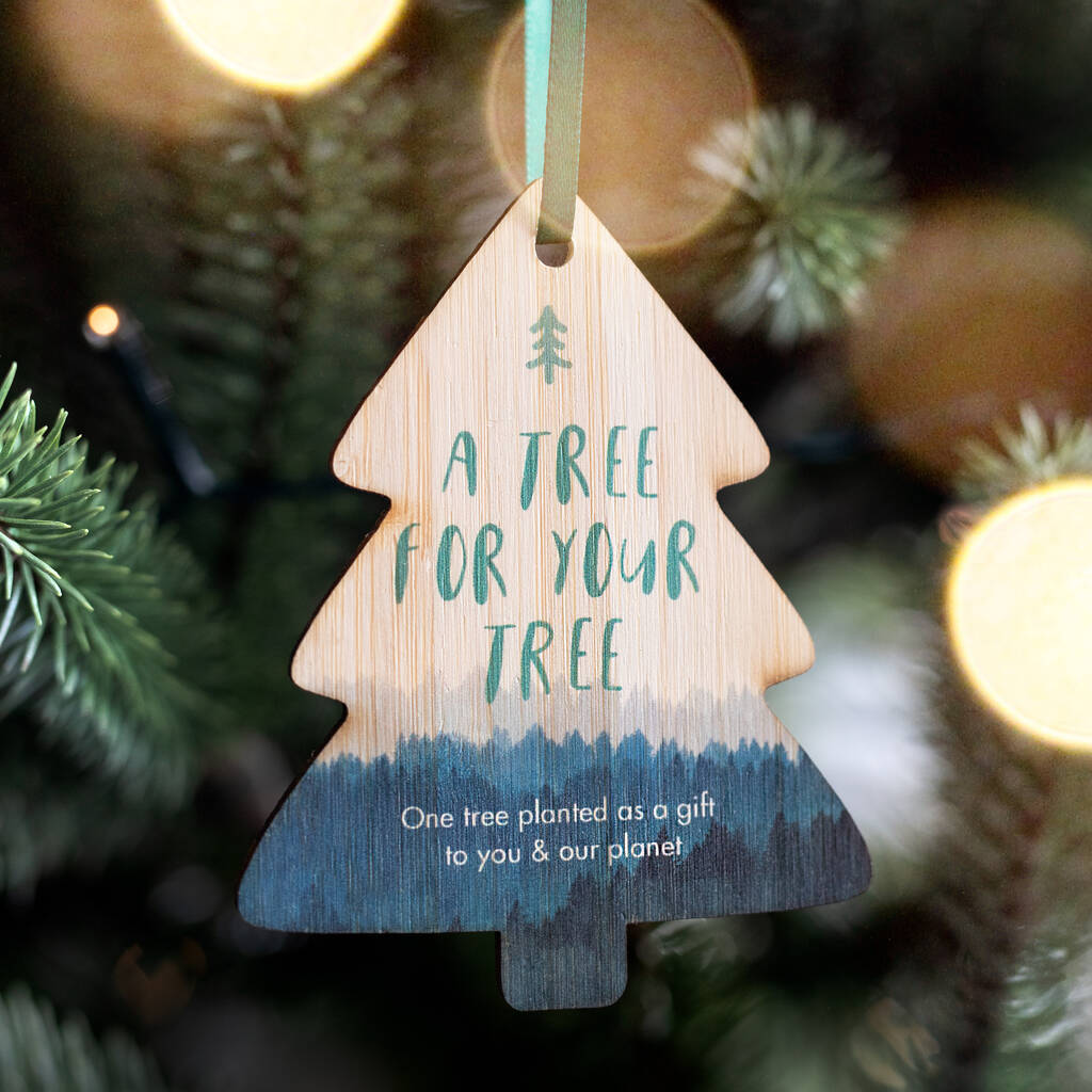 'A Tree for your Tree' Personalised Tree planting Decoration