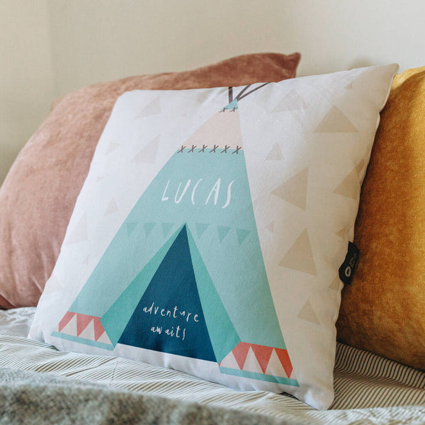 Personalised Child's Tee Pee Cushion