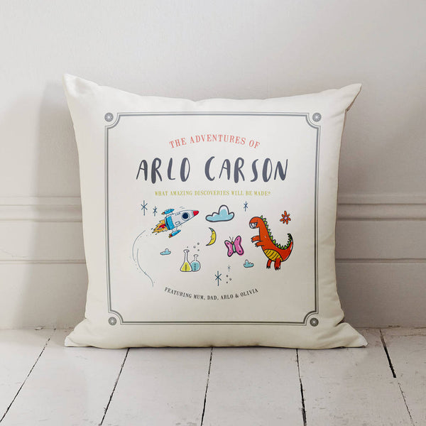 Personalised Child's Story Book Cushion