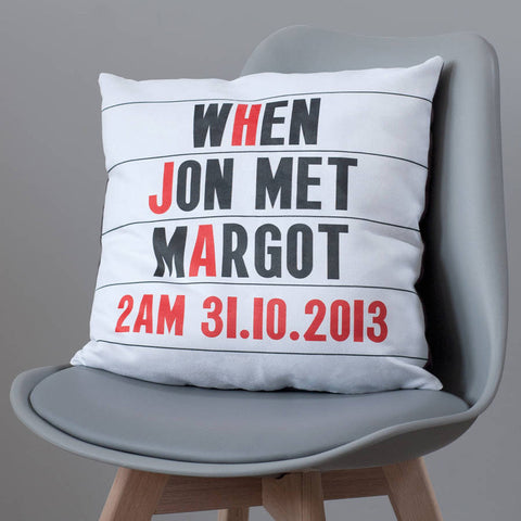 Personalised Cinema Marquee Faux Suede Cushion