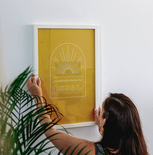 'Dream' Graphic Sunshine Print