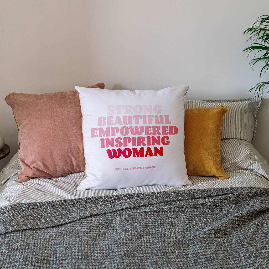 Empowered Woman Personalised Cushion