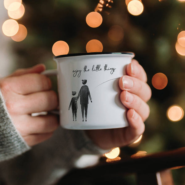 'Enjoy The Little Things' Personalised Mindful Mug