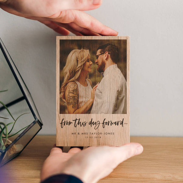 'From This Day Forward' Wooden Wedding Photo Block