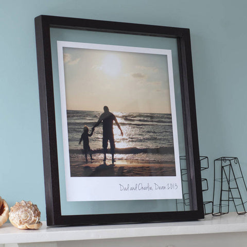 Personalised Floating Giant Polaroid Style Print
