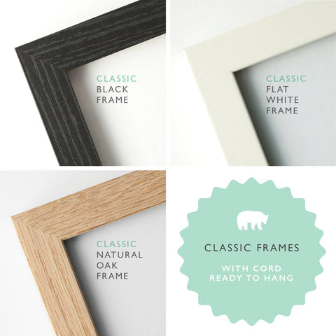 Handmade Classic Wooden Picture Frames - 50 x 20cm
