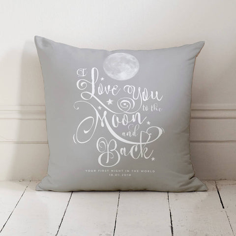 'I Love You To The Moon And Back' Personalised Cushion