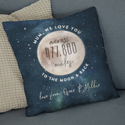 Love You Across The Miles To The Moon And Back Cushion