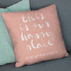 'Our Happy Place' Personalised Coordinates Cushion