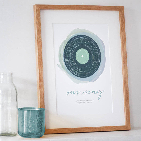 'Our Song' Personalised Print