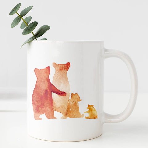 Personalised Bear Family Mug Gift