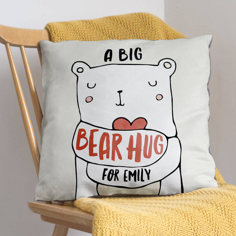 Personalised Bear Hug Cushion