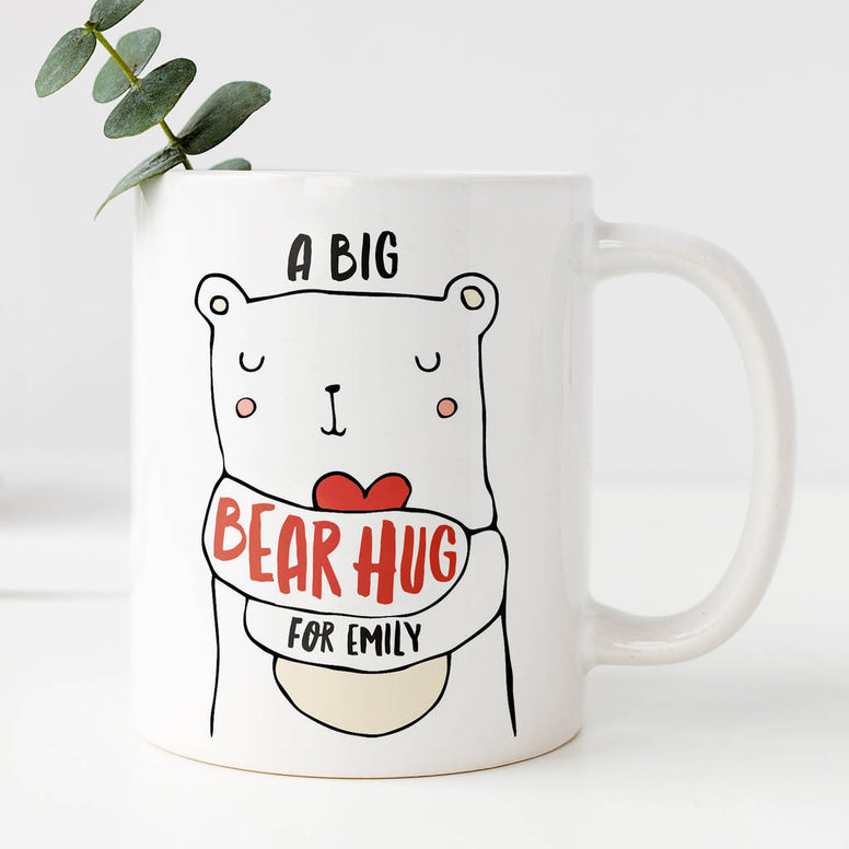 Personalised Bear Hug Mug