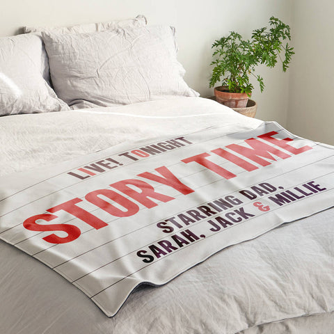 Personalised Child's Story Time Blanket