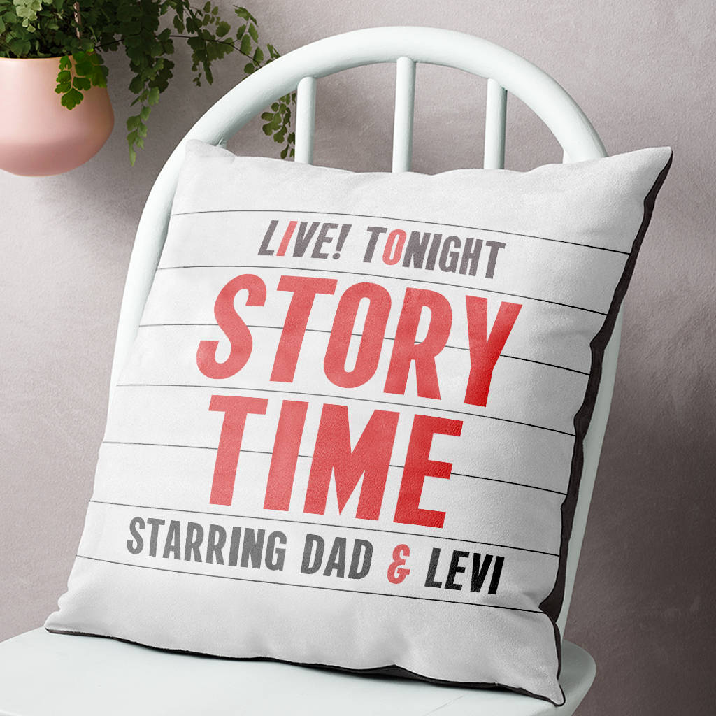 Personalised Child's Story Time Cinema Marquee Cushion