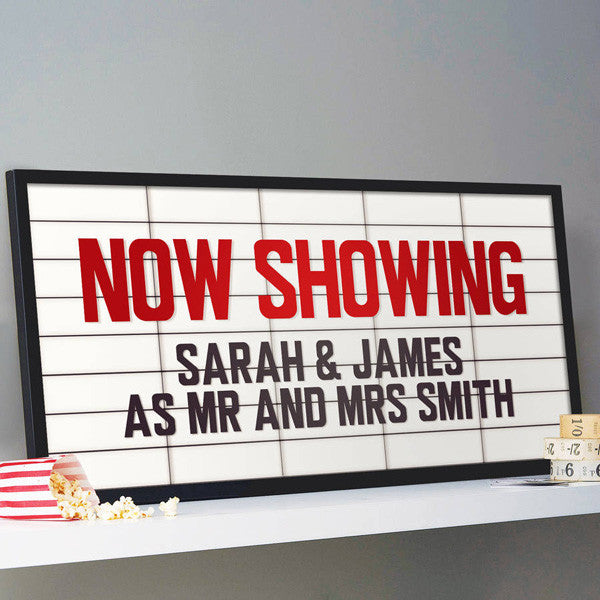 Large Personalised Cinema Marquee Sign