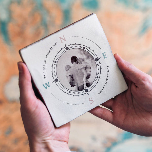 Personalised Compass Photo Tile