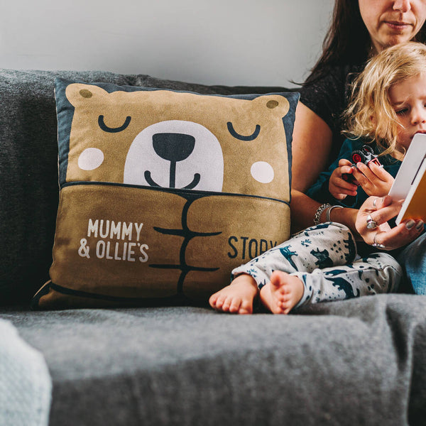 Personalised Parent and Child Story Cushion