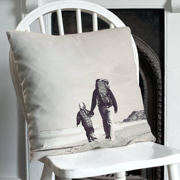 Personalised Organic Cotton Double Sided Photo Cushion