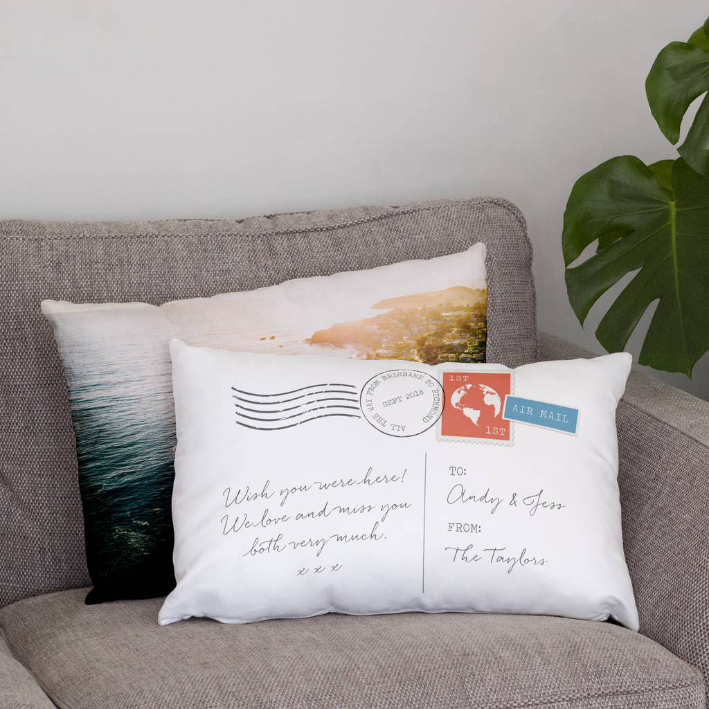 Personalised Double Sided Photo Postcard Cushion
