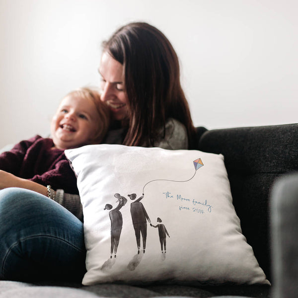 Personalised 'Enjoy The Little Things' Family Cushion