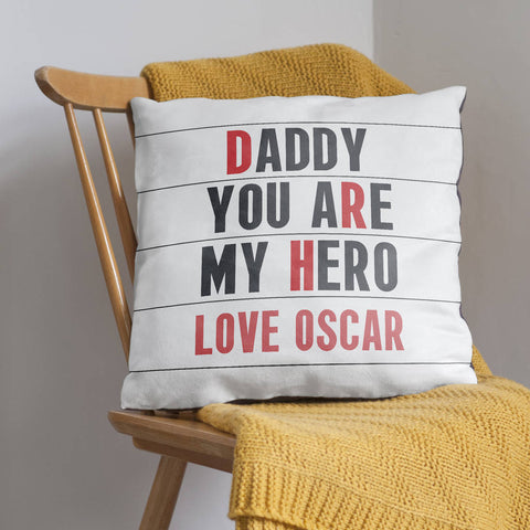 Personalised Father's Day Cinema Cushion