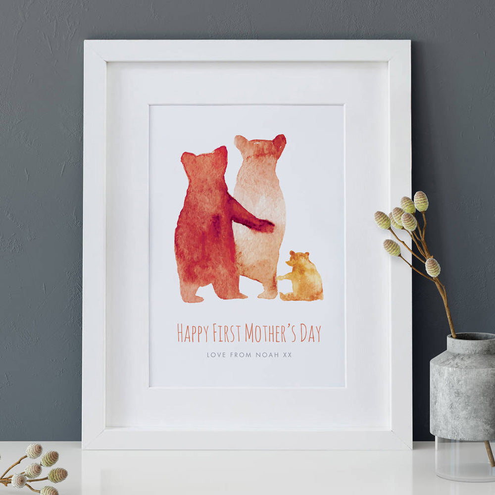 Personalised First Mother\'s Day \'Bear Family\' Print – The Drifting ...
