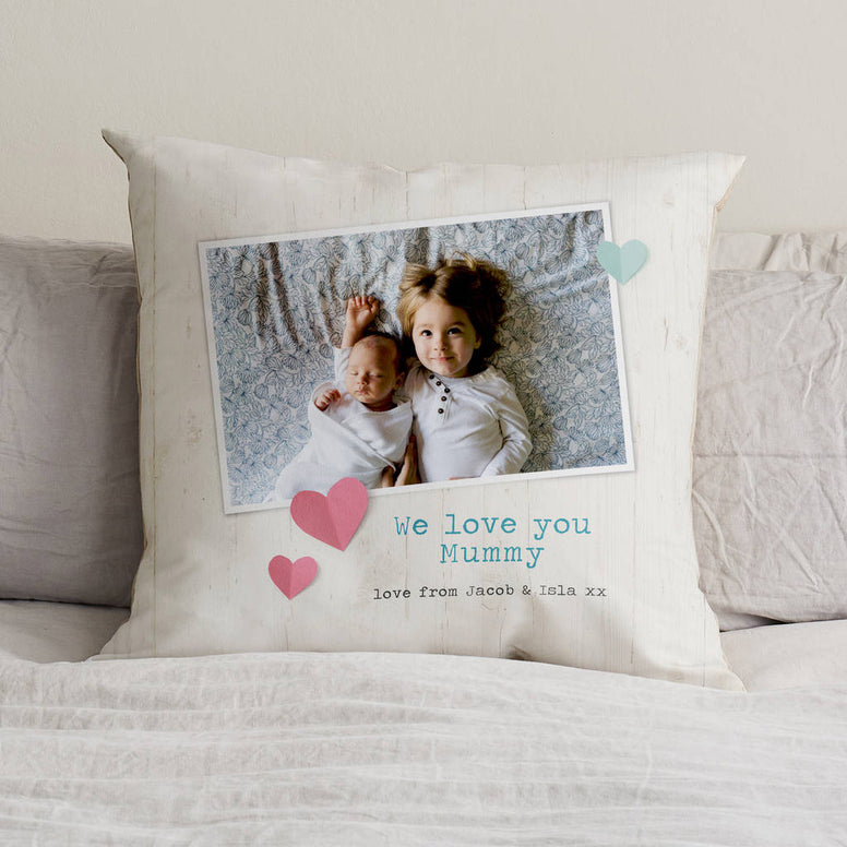 Personalised Mother's Day Photo Cushion With Words
