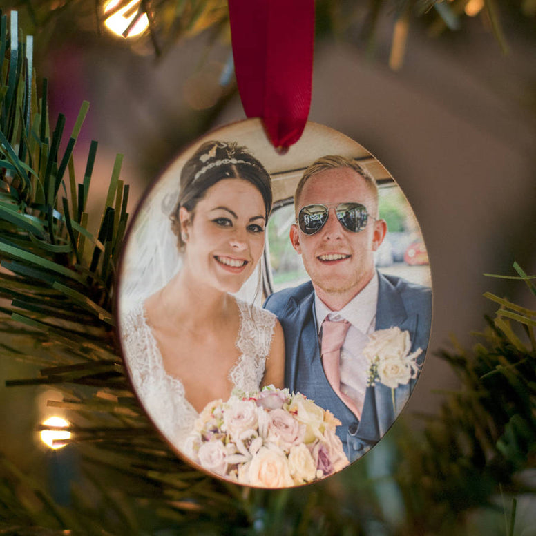 Personalised Favourite Photo Wooden Hanging Decoration