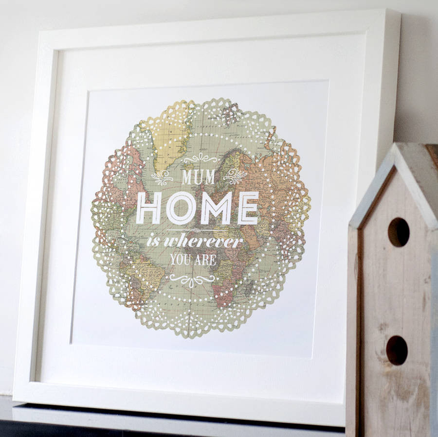 Personalised 'Home Is Wherever You Are' Print