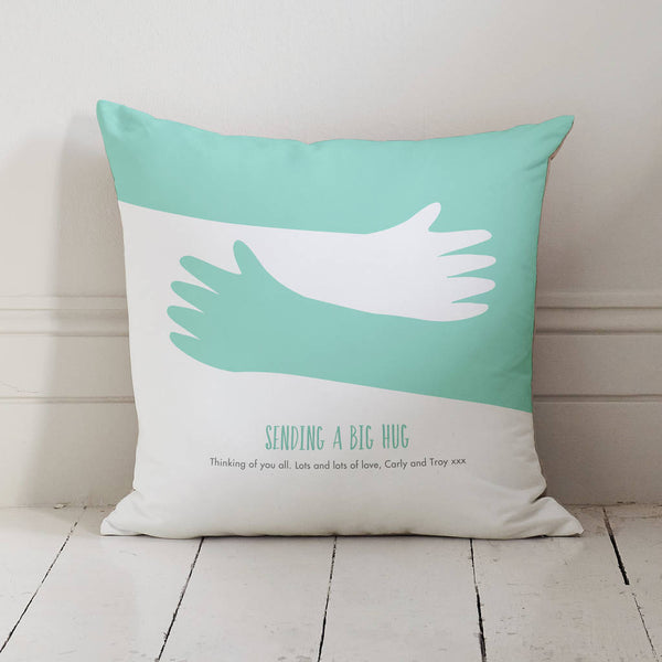 Personalised Hugging Arms Hug Cushion