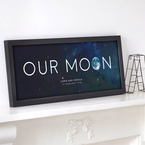 Personalised 'Our Moon' Special Date Print