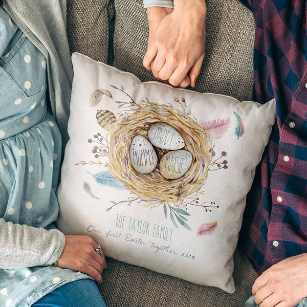 Personalised Family Nest Cushion