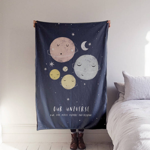 Personalised 'Our Universe' Family Luxury Blanket