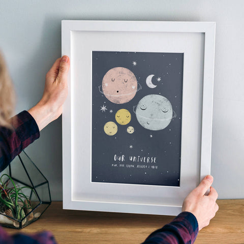 Personalised 'Our Universe' Family Planets Print
