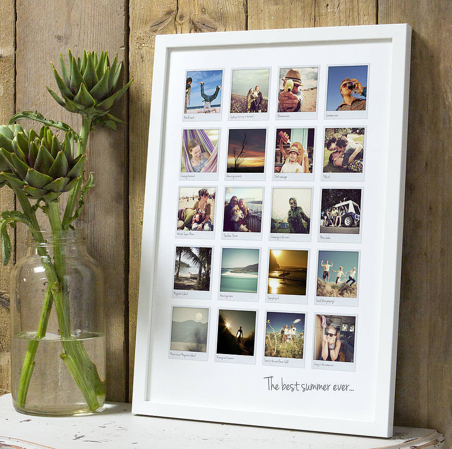 personalised polaroid album print the drifting bear co