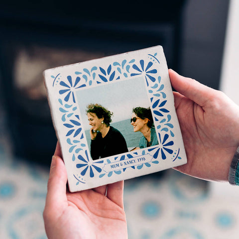 *NEW* Personalised Portuguese Style Photo Tile With Text