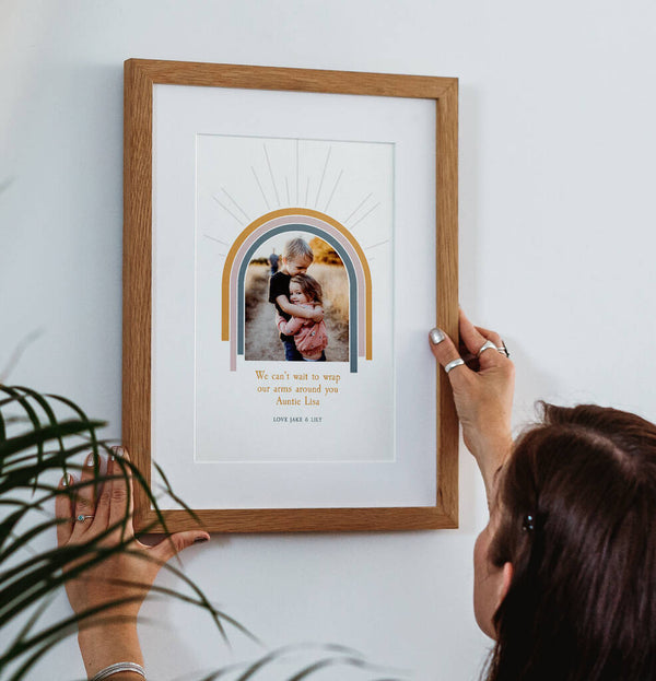 Personalised Rainbow Hug Photo Print