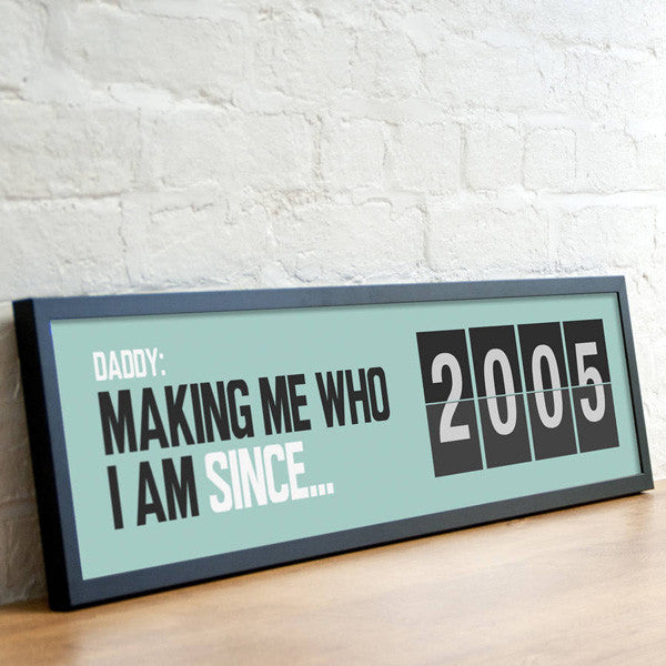 Personalised 'Since...' Date Print