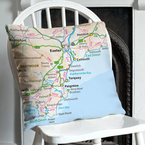 Personalised 'Special Location' Map Cushion