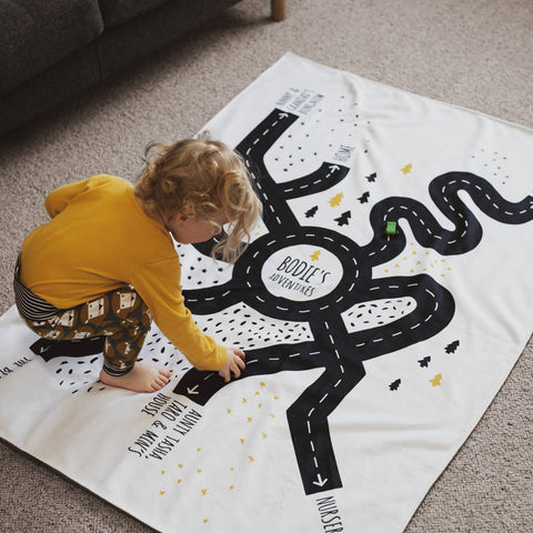 *NEW* Personalised Special Place Road Map Blanket