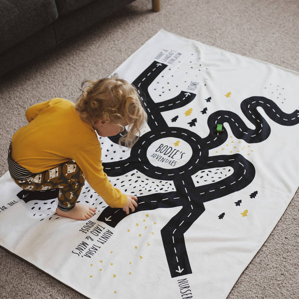 Personalised Special Place Road Map Blanket