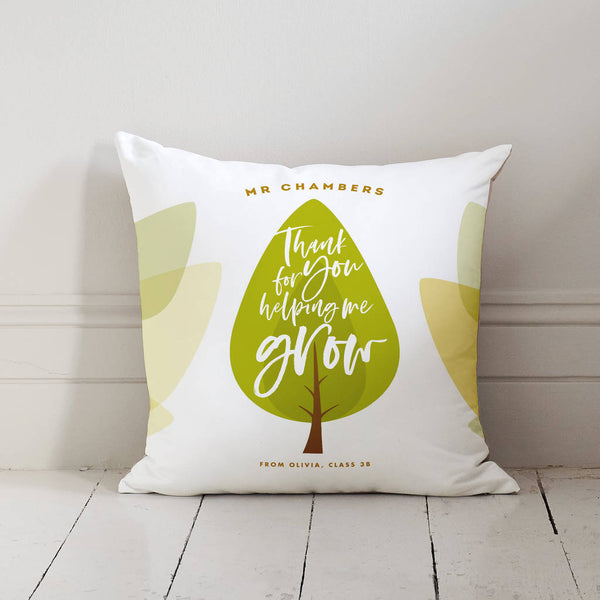 Personalised Thank You Teacher Cushion Gift