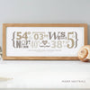 Personalised Wedding Coordinates Print