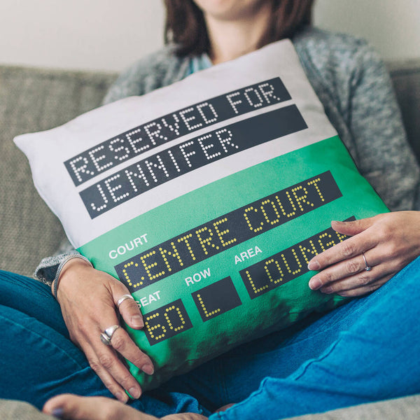 Personalised Wimbledon Tennis Reserved Seat Cushion