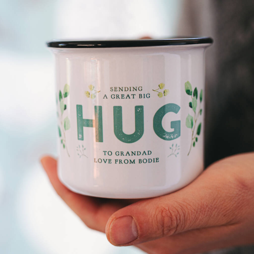 'Sending A Hug' Personalised Ceramic Mug