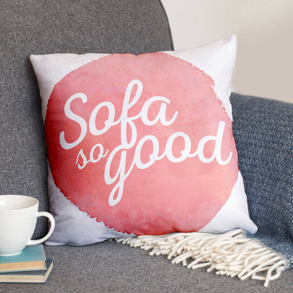 'Sofa So Good' Luxury Faux Suede Cushion